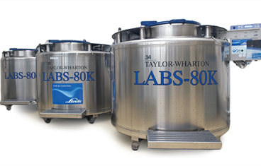 LABS K-series bulkstorage for 20.000 - 94.000 samples in liquid nitrogen or vapour phase